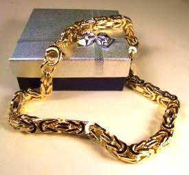 Goldkette königskette  Königskette 7-8mm 45-90cm vergoldet oder Gold Doublé Goldkette ...