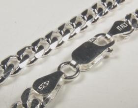 925 silber  Original PANZERKETTE 925 SILBER 4,6mm45-80cm HERRENKETTE Halskette ...