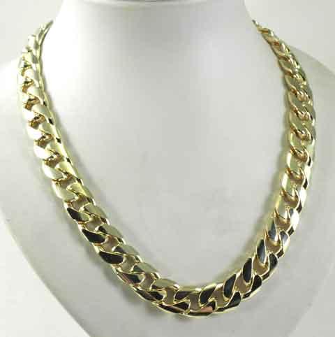 neu panzerkette gold double oder vergoldet 14 5mm 42 90cm herrenkette halskette ebay. Black Bedroom Furniture Sets. Home Design Ideas